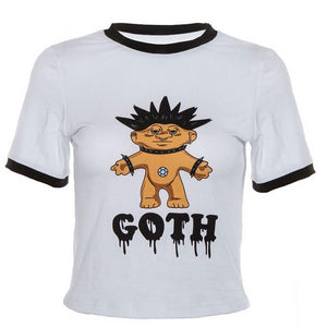 Goth Troll Crop Top