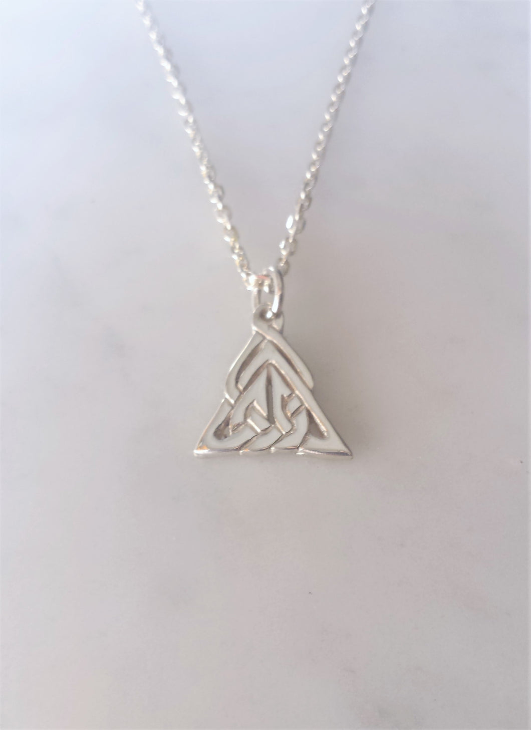 Celtic Trinity Heart Necklace in sterling silver
