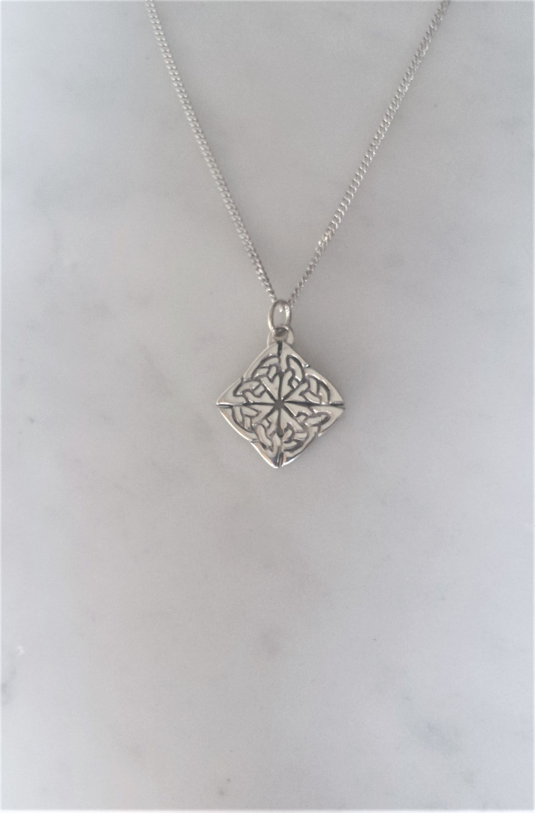 Celtic Knot Necklace in sterling silver