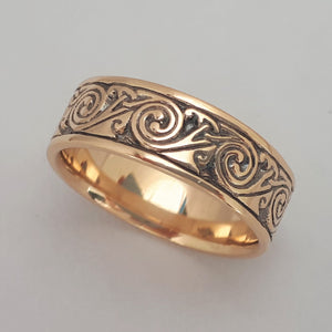 Wind in 14k gold