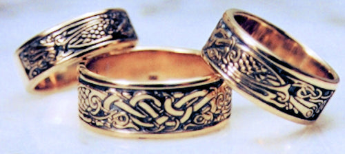 Celtic BIRDS in 14k gold