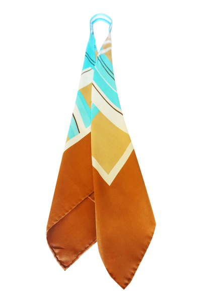 Multi Color Chevron Print Scarf