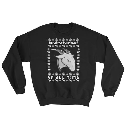 GOAT Ugly Christmas Sweatshirt (multiple colors available)