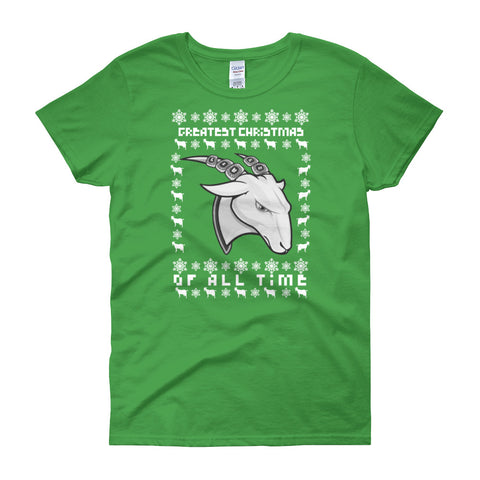 Ladies GOAT Ugly Christmas Tee (Multiple Colors Available)