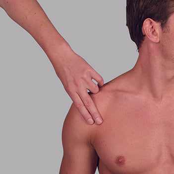 1. Locate a point 2–3 inches above the armpit