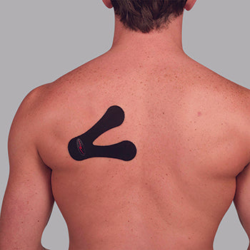 1. Locate the pain point at the bottom of the shoulder blade