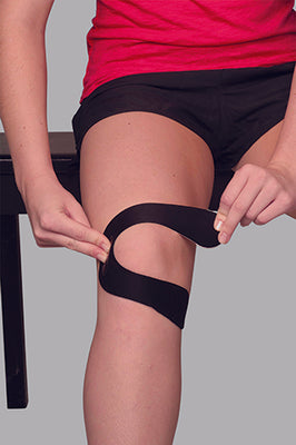 1. Locate the pain point in the side of the knee