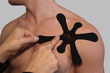 1. Press around your shoulder joint to find the main area of pain