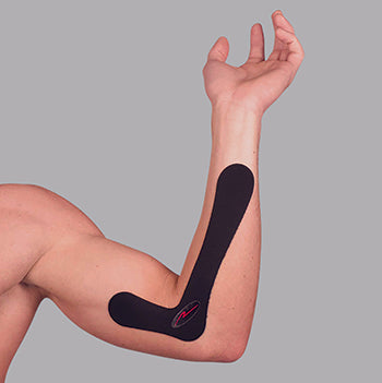 1. With your elbow bent approximately 90 degrees, locate the bone on the inner edge of the elbow