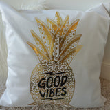 Lovely Gold Stamping Decorative Throw Pillow Cover