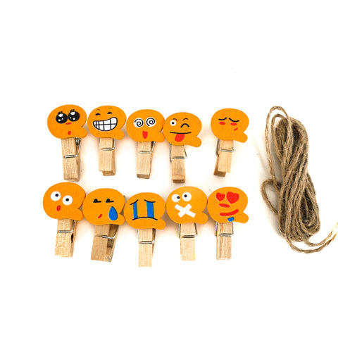 Mini Emoticon Photo Display Clips