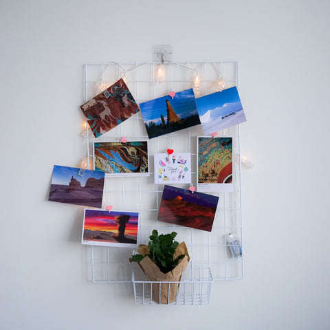 Photo Wall Grid Panel and Organization