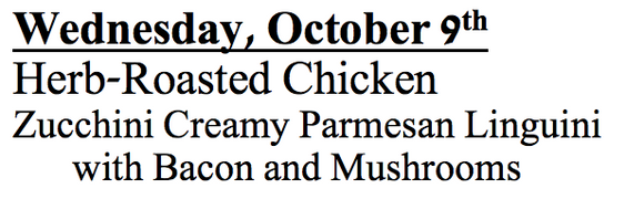 10-b-Wednesday, October 9th Herb-Roasted Chicken