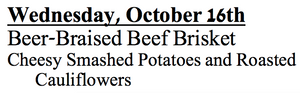 10-c-Wednesday, October 16th Beer-Braised Beef Brisket