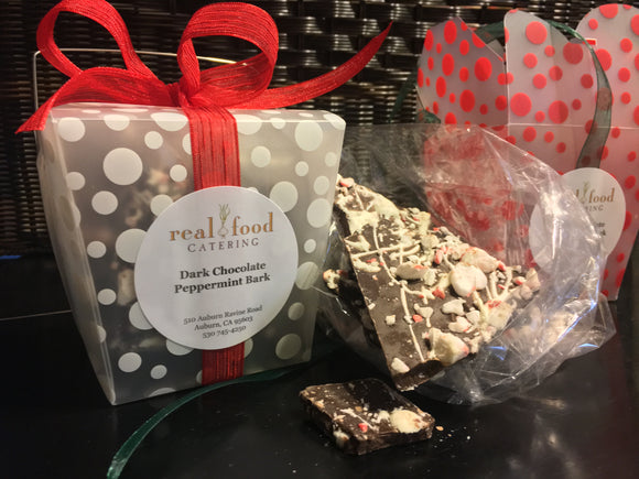 Dark Chocolate Peppermint Bark Gift Box