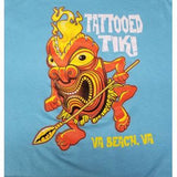 Tiki T-Shirt Light Blue