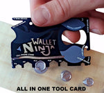 Credit Card Sized 18 in 1 Tool Kit Ninja Wallet Card (Free Delivery)