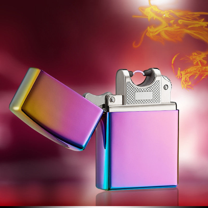 Electronic Cigarette lighter Pulsed Arc Slim Windproof cigar Lighter USB Rechargeable