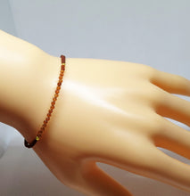 CBATHG Hessonite Garnet Corded Beaded Bracelet
