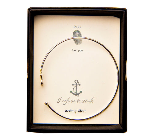 CBE99 Anchor Bangle - b.u. jewelry
