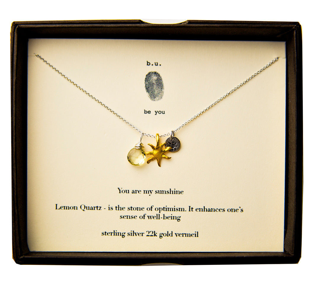 E007A You are my Sunshine - b.u. jewelry