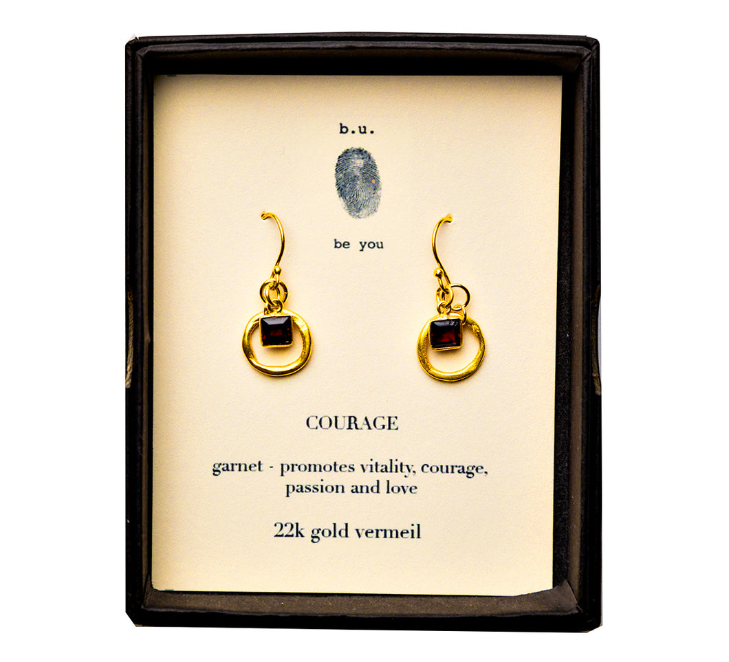 E201SV Courage Earring Pair Gold - b.u. jewelry