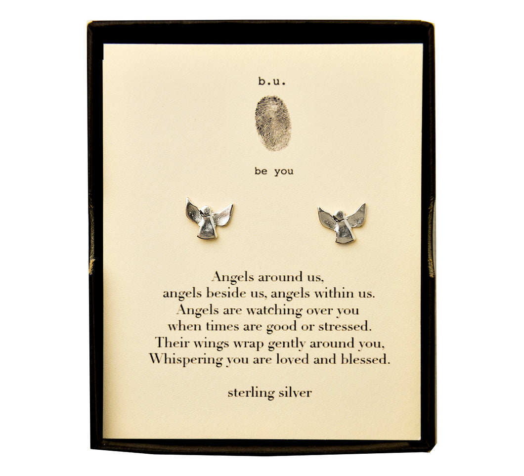 E220 Angel Post Earring Pair - b.u. jewelry
