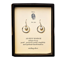 E25S Antique Wisdom Earring Pair - b.u. jewelry