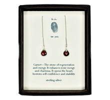 CEG Garnet Chain Earring Pair - b.u. jewelry