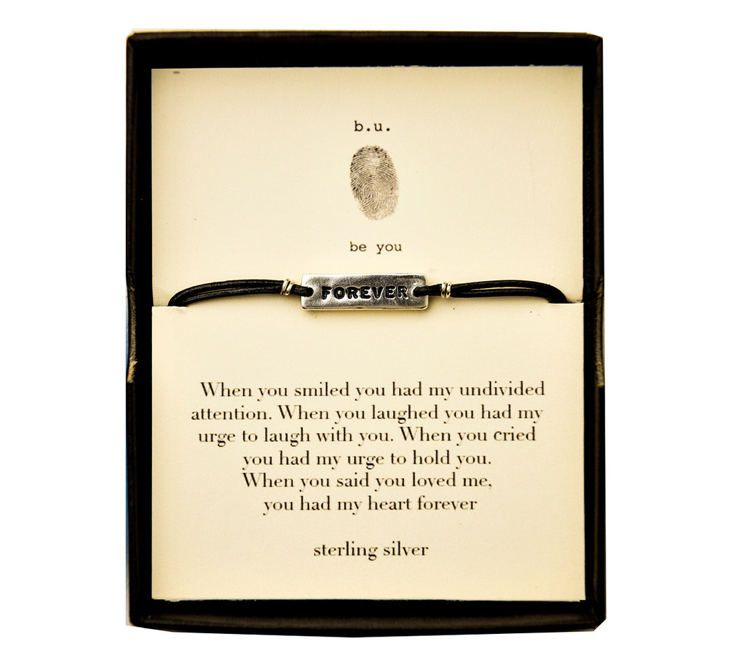 LB4 Leather Bracelet Forever - b.u. jewelry