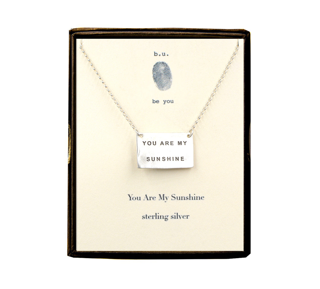 N261 You Are My Sunshine Necklace