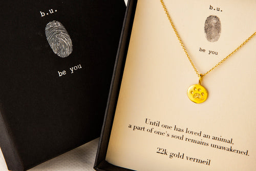 N323V Paw Print Until One Has Loved Gold - b.u. jewelry