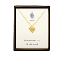 N372V Heart with Loved Gold