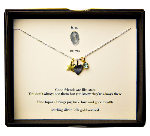 N437CF Good friends Necklace - b.u. jewelry