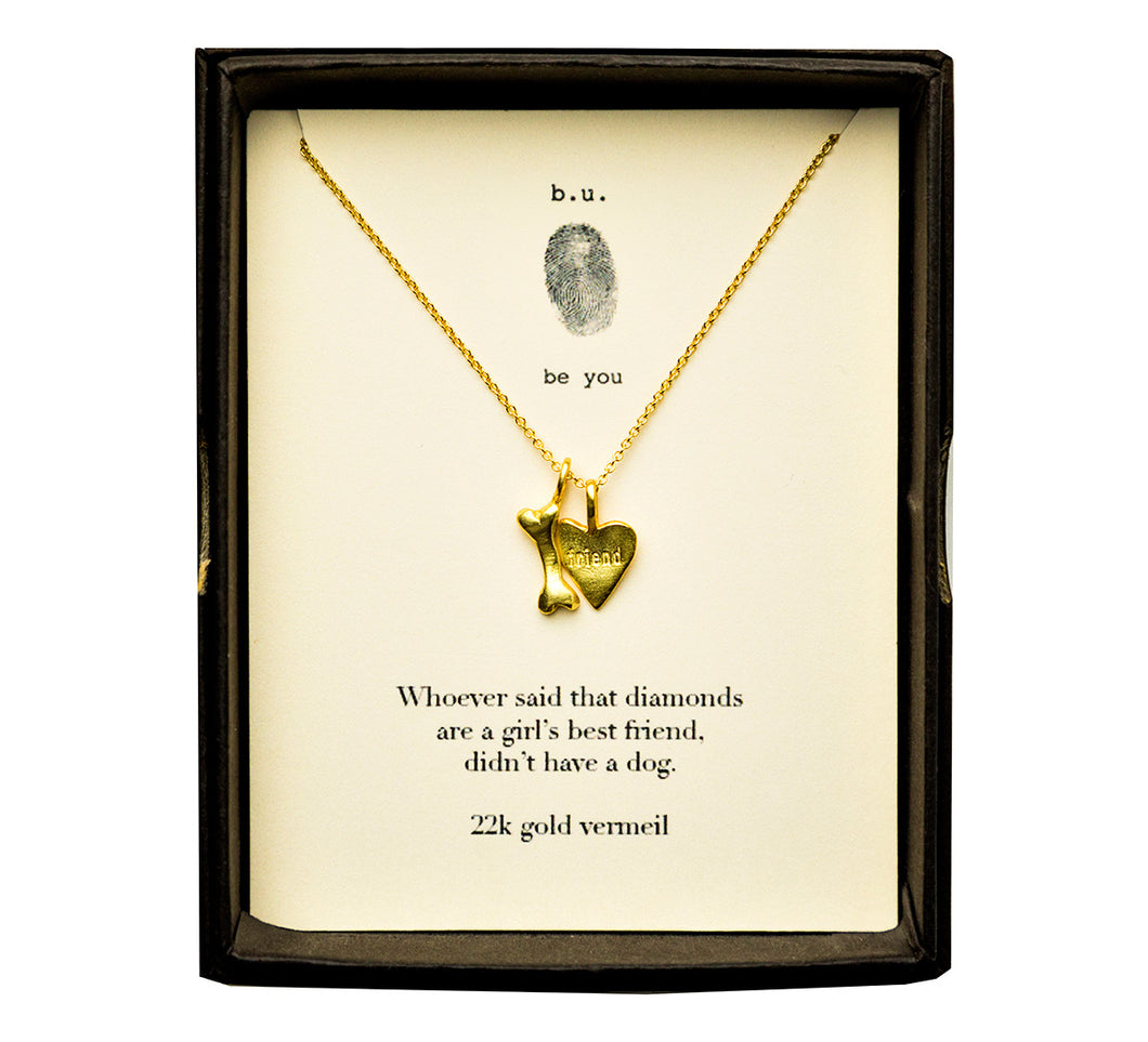 N483V Dog's Best Friend Gold - b.u. jewelry