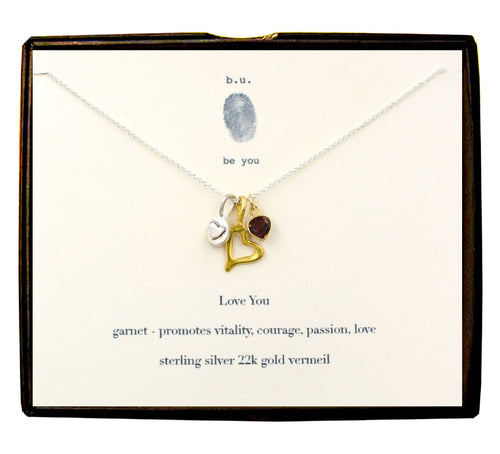 N587CF Love You Necklace