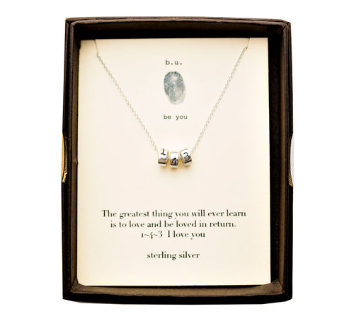 N662A The Greatest Thing You Will Ever Learn - b.u. jewelry