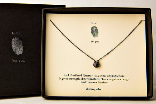 NCBQ Black Rutilated Quartz - b.u. jewelry