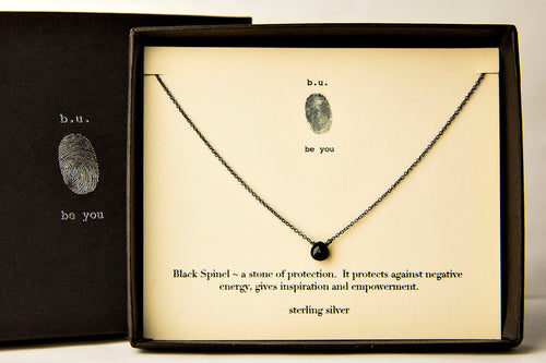 NCBS Black Spinel Cut Heart - b.u. jewelry