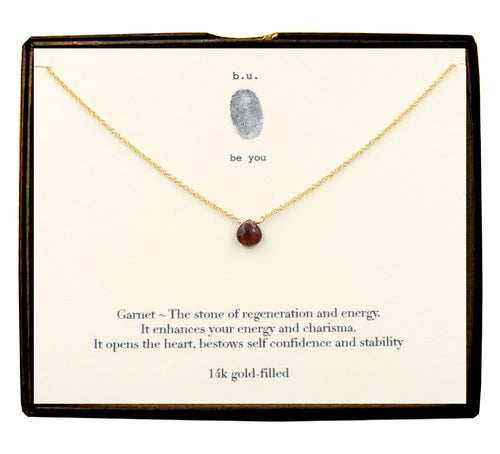 NCG Garnet Cut Heart