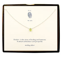 NCP Peridot Faceted Tear