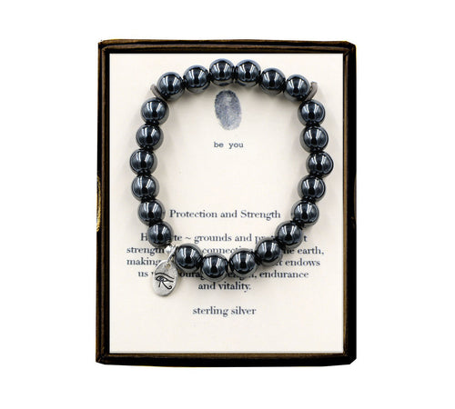 S5E244 Protection and Strength Hematite Bracelet
