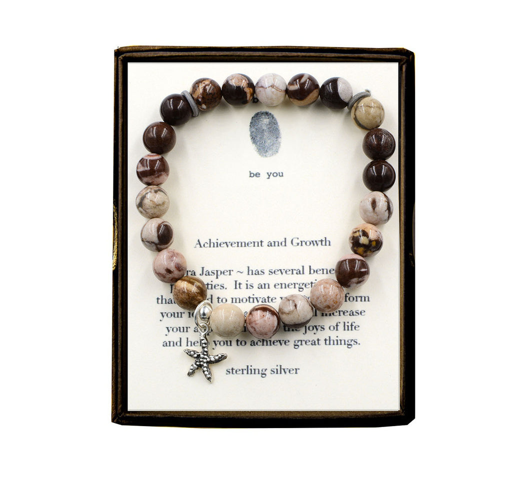 S73E183 Achievement and Growth Zebra Jasper Bracelet