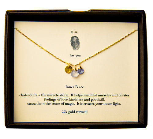 SCE006V Inner Peace Gold - b.u. jewelry