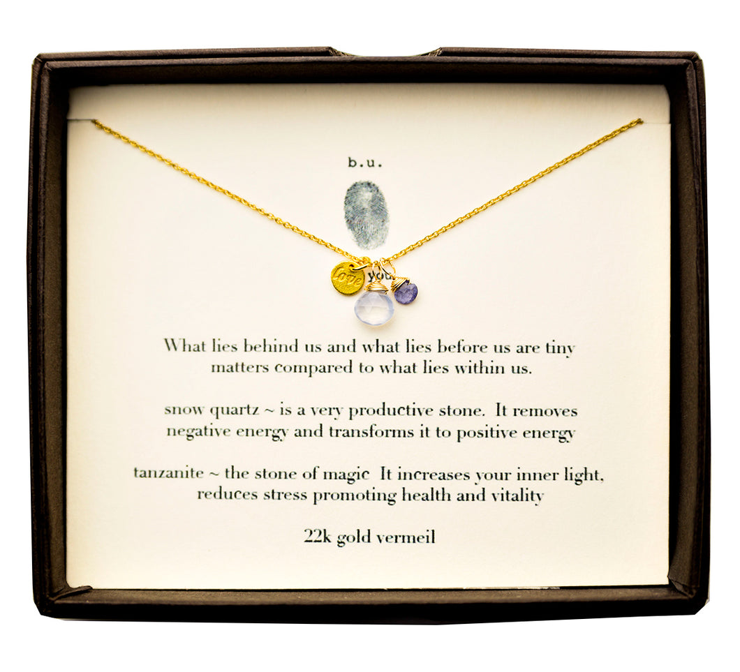 SCE009AV What Lies Behind Us and What Lies Before Us Gold - b.u. jewelry