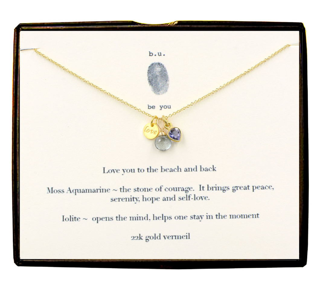 SCE009CV Love You To The Beach And Back Gold