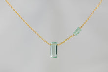 X3FAPG Fluorite Small Baguette Apatite Accent Gold Necklace