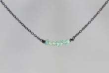 X7APB Apatite Lucky 7 Rondelle Oxidized Necklace