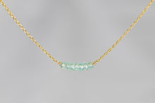 X7APG Apatite Lucky 7 Rondelle Gold Necklace
