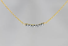 X7SHG Silver Hematite Lucky 7 Rondelle Gold Necklace